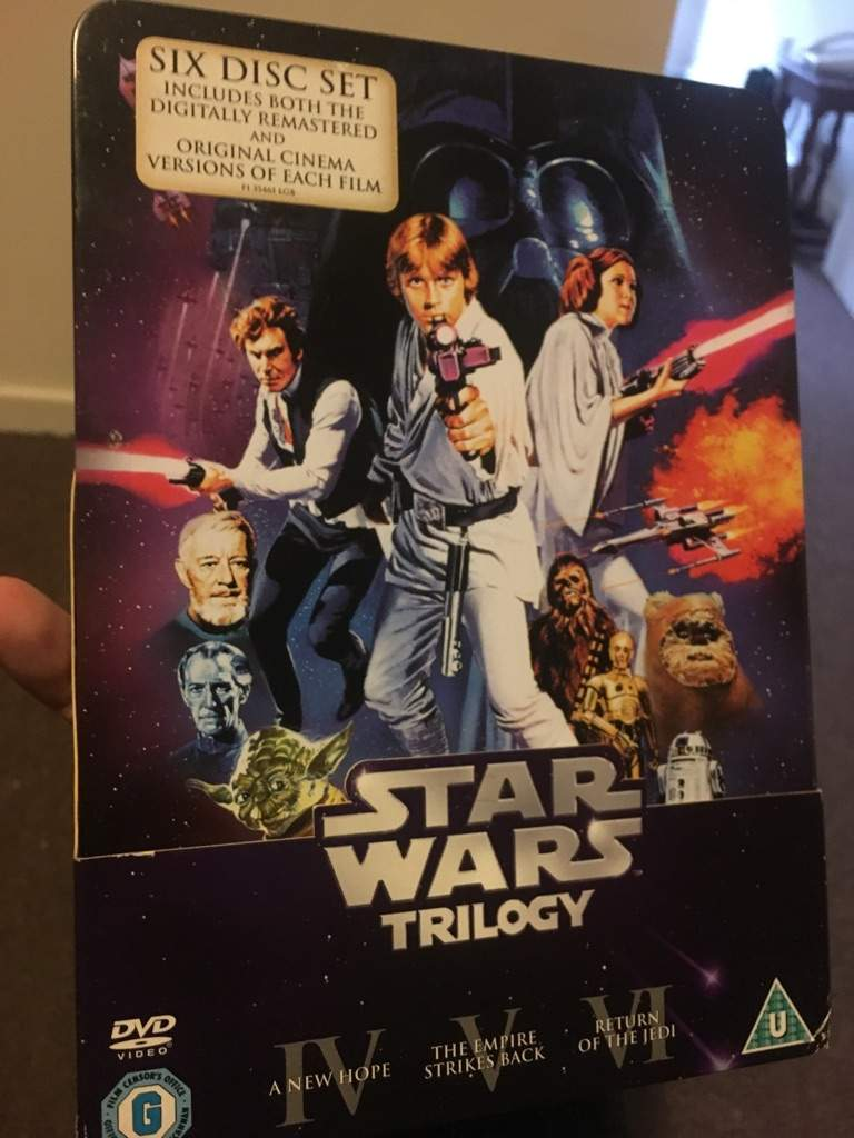 Star wars trilogy 6 discs limited edition tin box set dvd by mark.