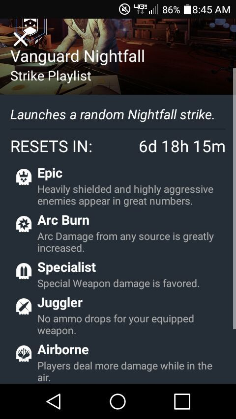 Modifiers for this weeks Nightfall (The Sunless Cell