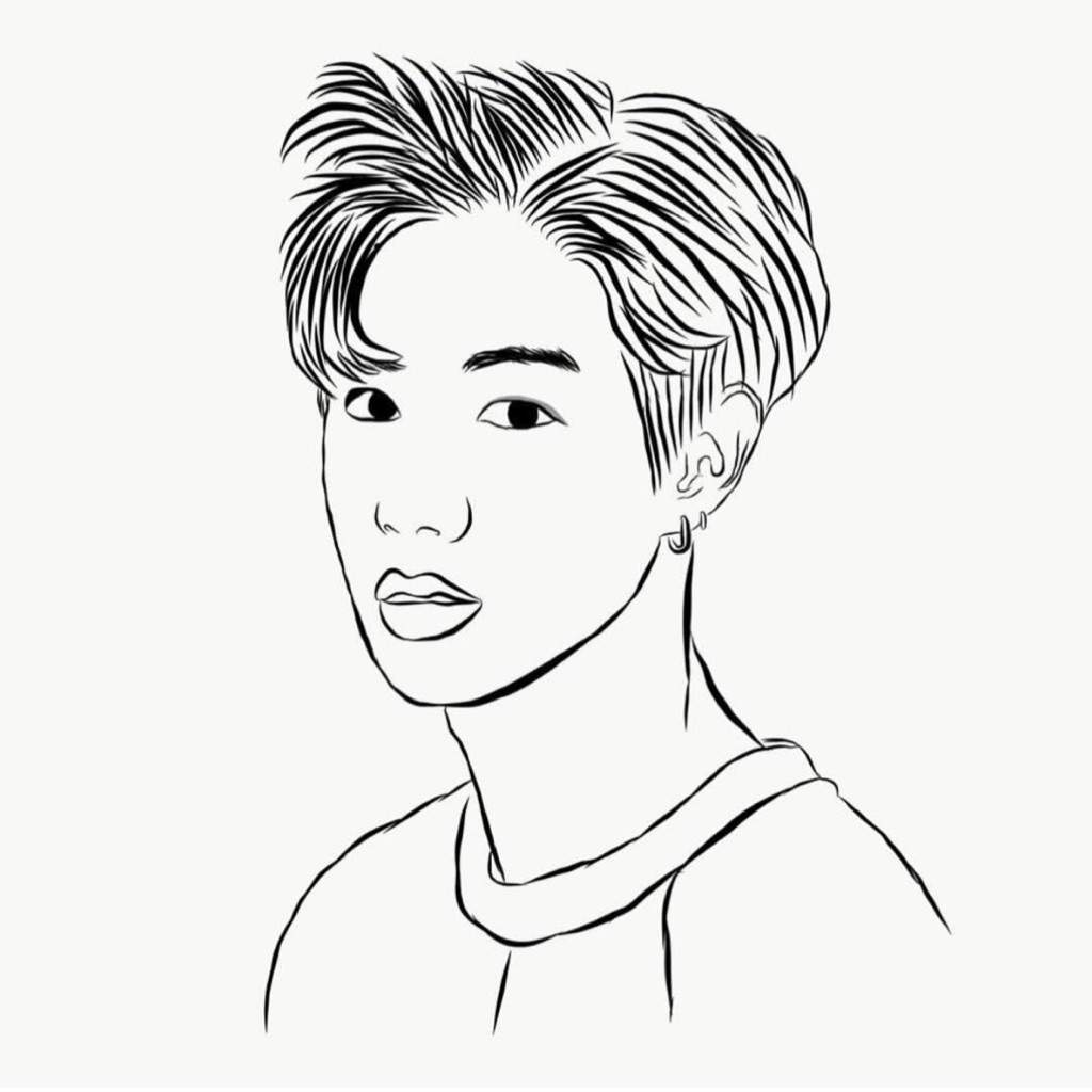got7 outline drawings kpop fanart amino