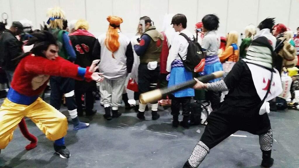 & Interdimensions: SSJ4 Goku vs Sarutobi!   Cosplay Amino