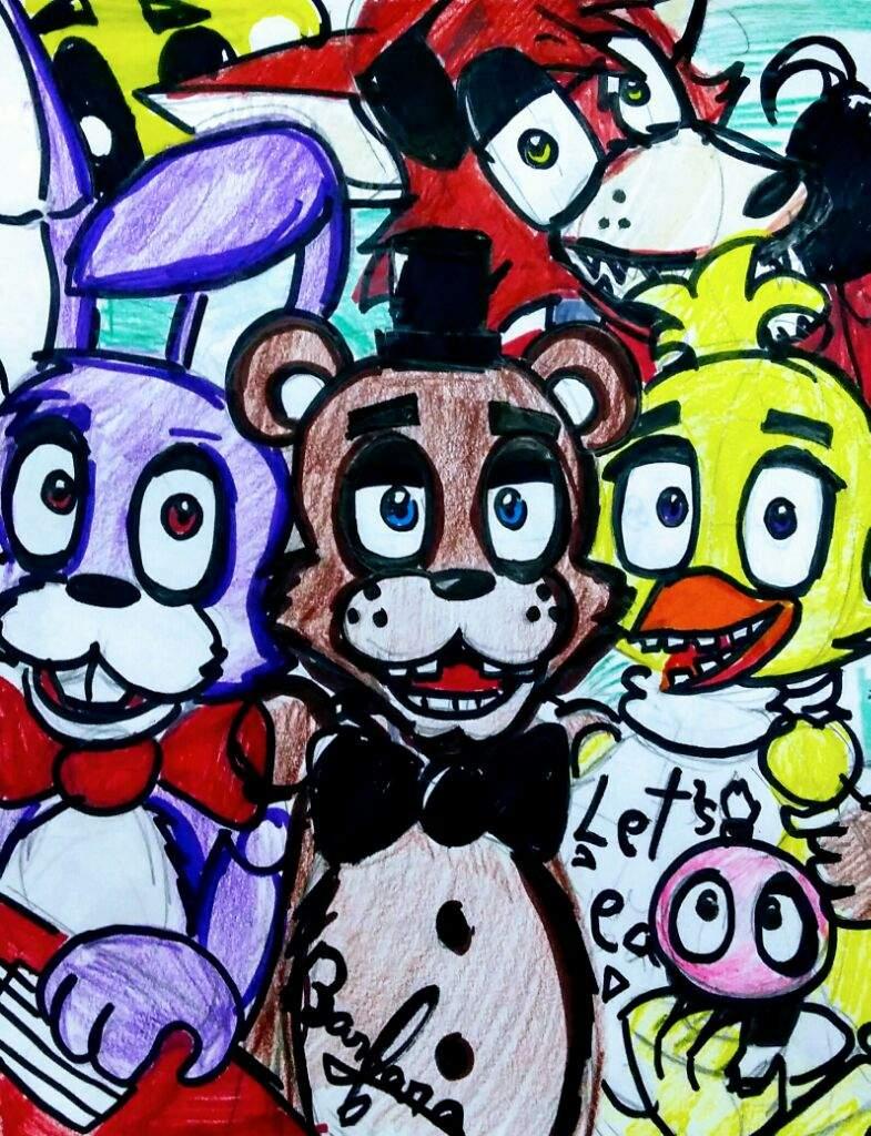 Five Nights At Freddy's Bonnie Animated fnaf 1 freddy bonnie chica foxy and.. | five nights at