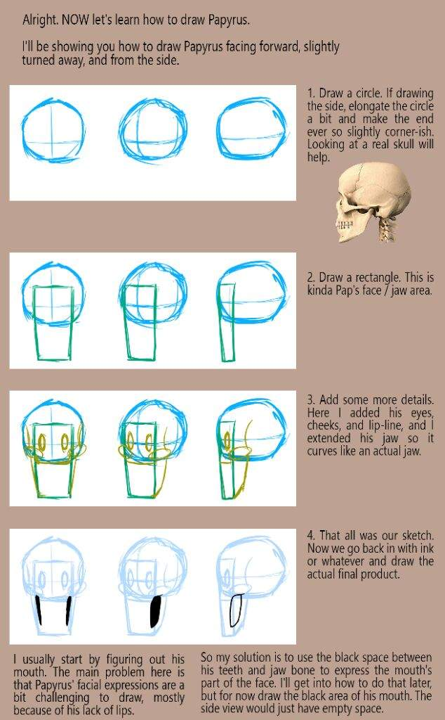 How to Draw Papyrus: a Tutoriel | Undertale Amino