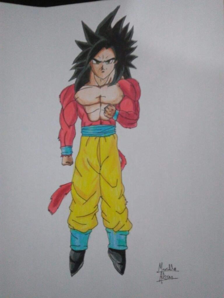 Desenho Goku Ssj4 Otanix Amino