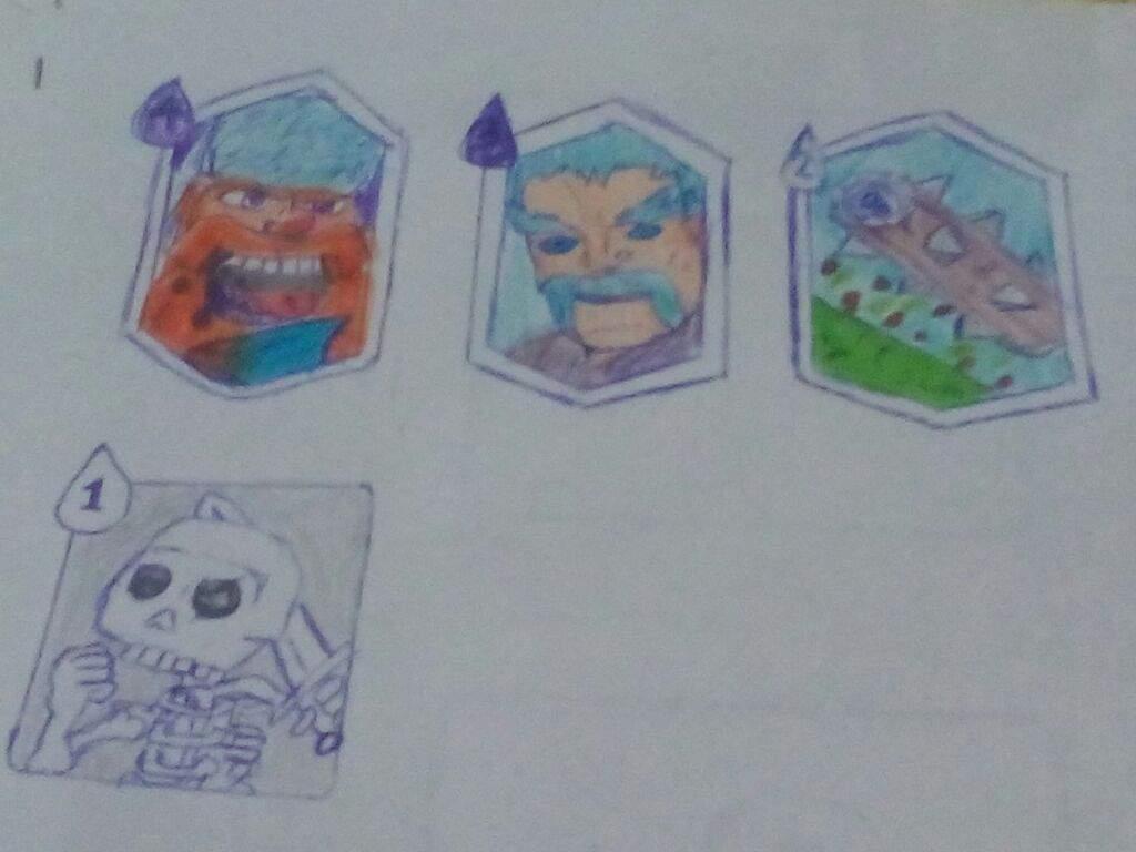 Mis Dibujos De Cartas De Clash Royale V Clash Royale Amino