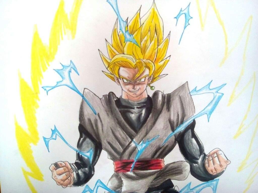 Dibujo Black Goku Ssj 2 Diseño De Toyotaro Sensei