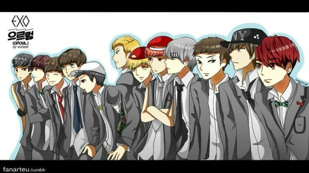 EXO Growl Anime Drama