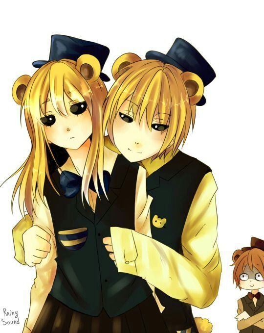 Golden Freddy and Goldie Freddy | Human five nights at