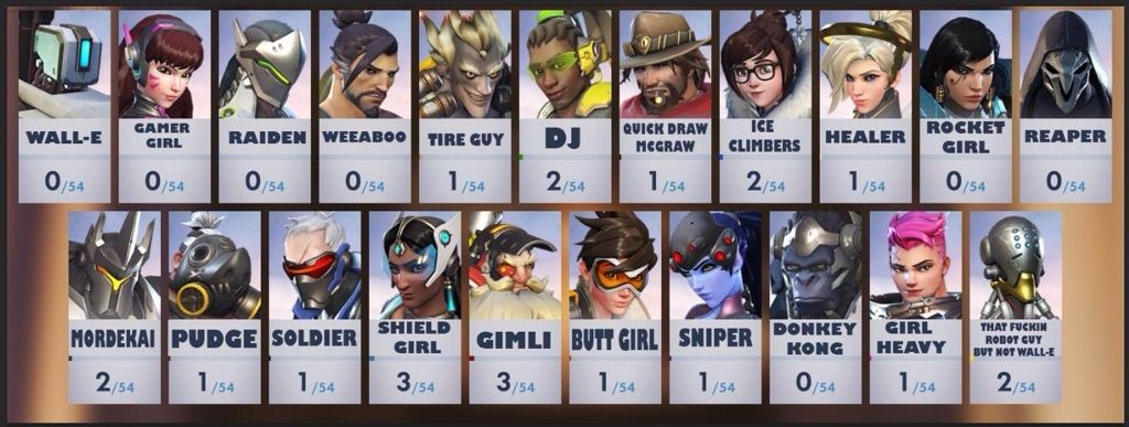 i remember all this characters from overwatch overwatch amino