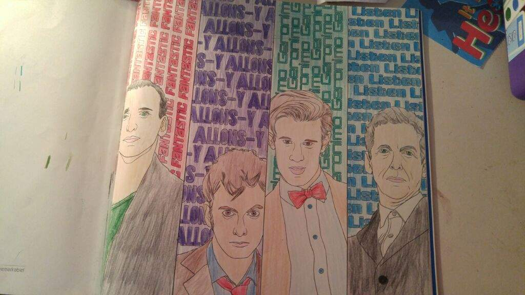 i got this coloring book last year as in 2016 either for last day of school or first day of school and i only finished 1 picture - Doctor Who Coloring Book