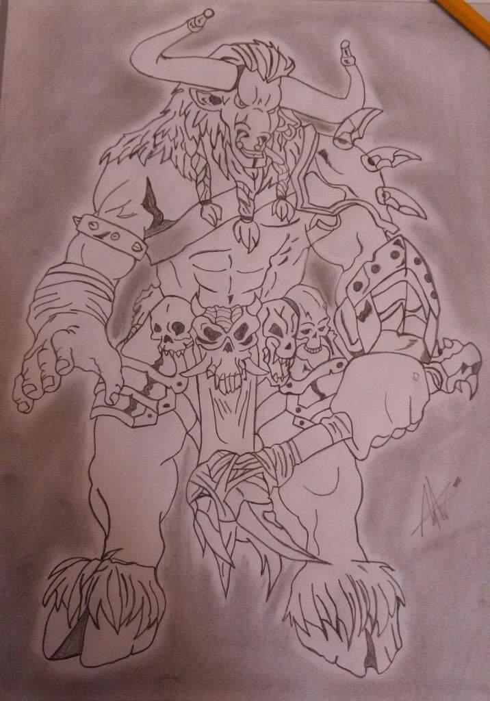 Minotauro Lapiz Arte Amino Amino