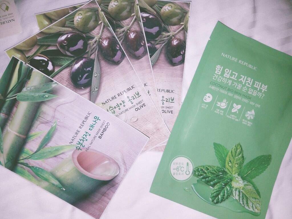 Nature Republic Haul Korean Beauty Amino Bath Body Lotion Apple Mango Real Mask Sheet 150 Each