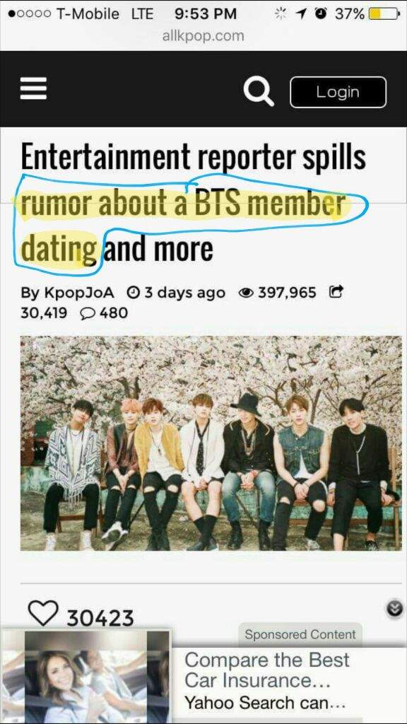 dating rumors bts how can i find out if someone is on dating sites