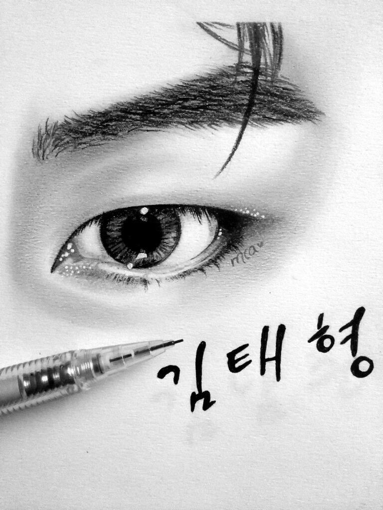 v blood sweat and tears serie eye study bts k pop amino