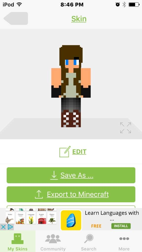 Drawing My Two Favorit Minecraft Skins Minecraft Amino - Minecraft skins fur ipod