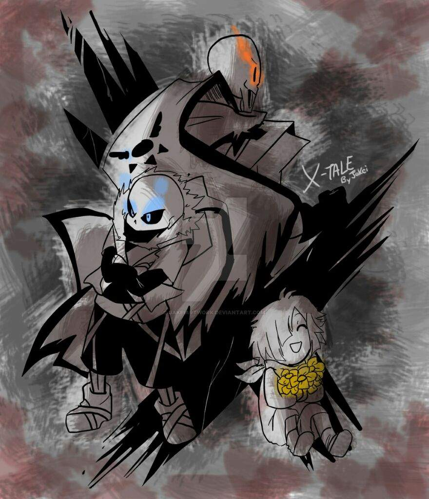 x tale cross papyrus and chara undertale amino