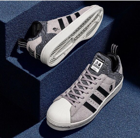 2ac140dceaea6 A Bathing Ape X Neighborhood X Adidas Superstar