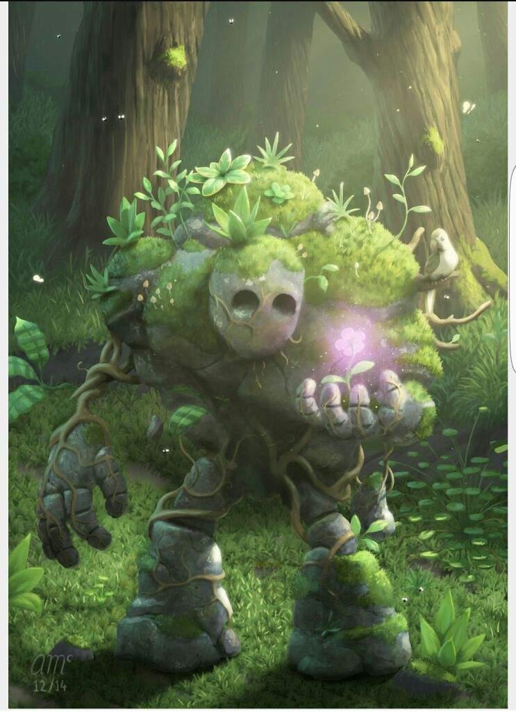 New Card Idea The Moss Golem Clash Royale Amino