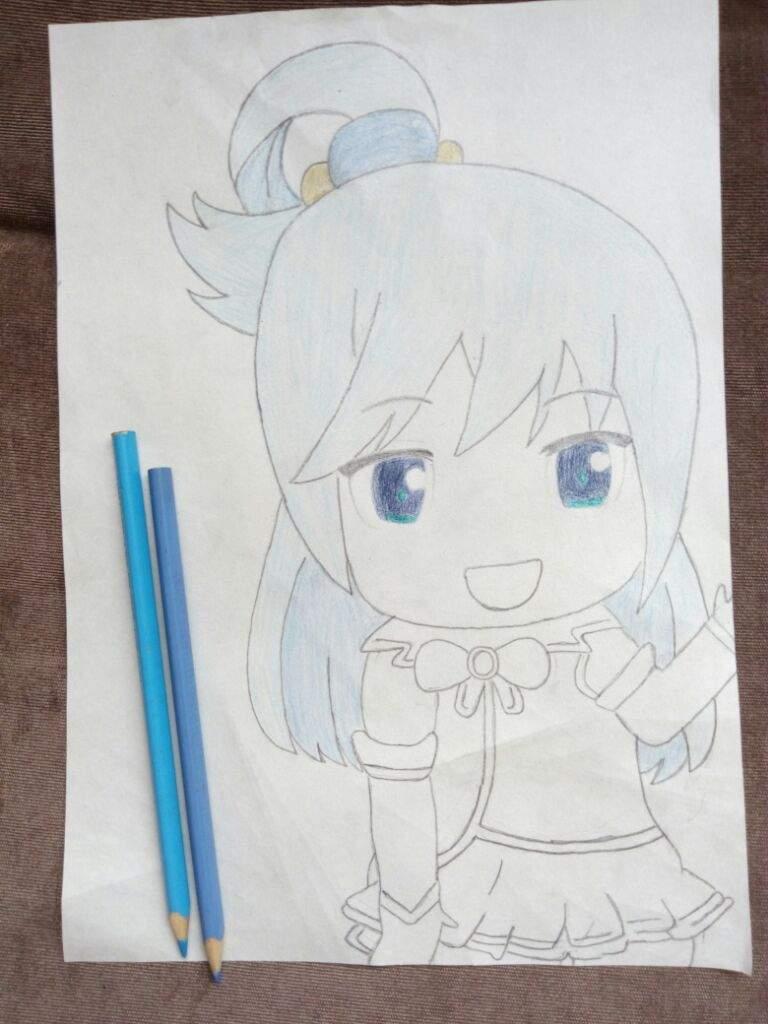 Proceso de dibujo] Aqua :3 || Concurso: San Valetín | ~Anime & Rol ...