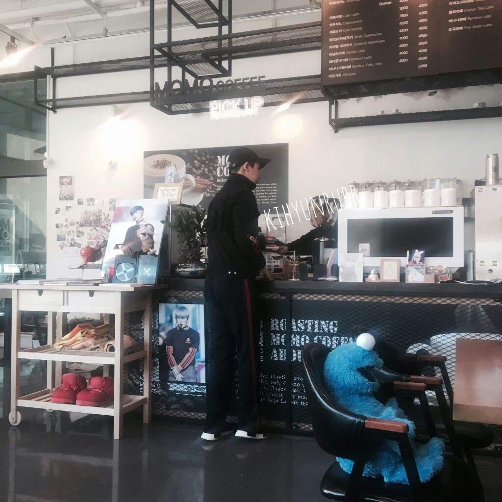 Wonho At His Mom S Cafe