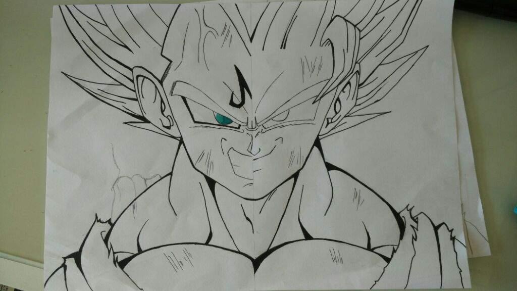 Majin Vegeta Vs Goku Split Drawing | DragonBallZ Amino