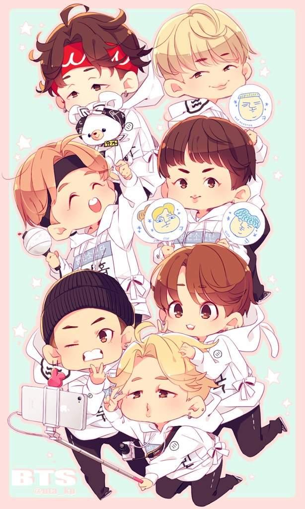 Cute Bts Anime Version