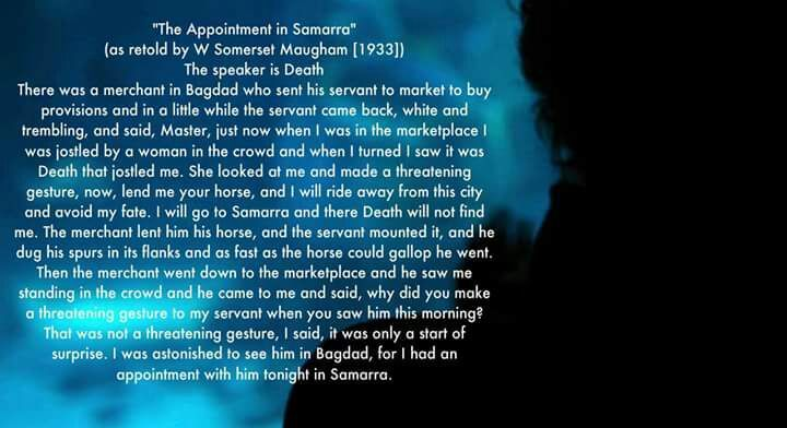 the appointment in samarra and the Buy a cheap copy of appointment in samarra book by john ohara a twentieth-century classic, appointment in samarra is the first and most widely read book by the writer fran leibowitz called.