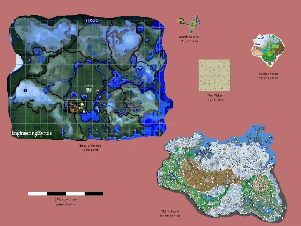 Breath Of The Wild Map Vs Skyrim | Nintendo Switch! Amino
