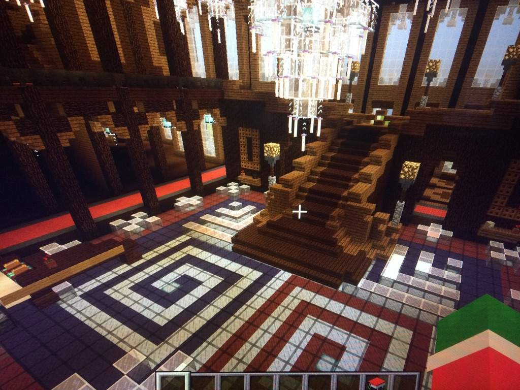Minecraft Foyer Ideas : The inside grand mansion minecraft amino