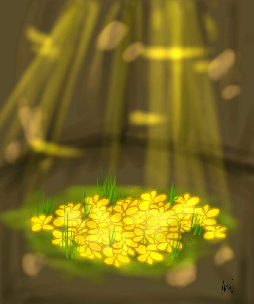 Bed Of Golden Flowers