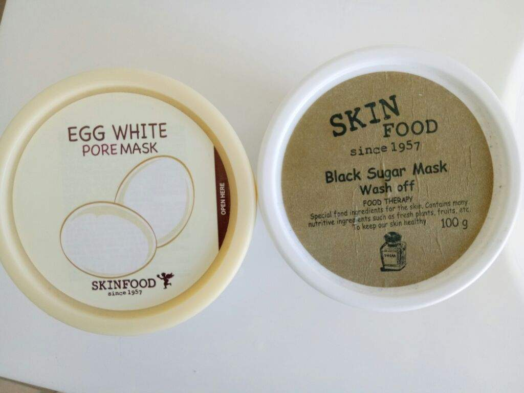 Skinfood Egg White Pore Mask And Black Sugar Wash Off Korean Skin Food Strawberry Review Of Two Masks I Bought In November The First Is Second Extremely Popular