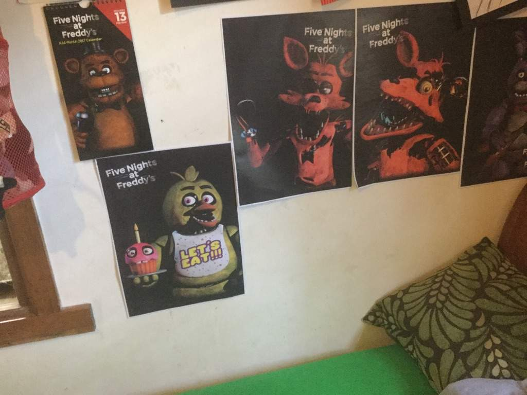 My Fnaf Bedroom Stuff My Hand Made Cupcake Five Nights At