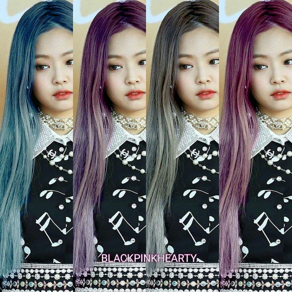 Jennie With Different Hair Colors Blink Amino