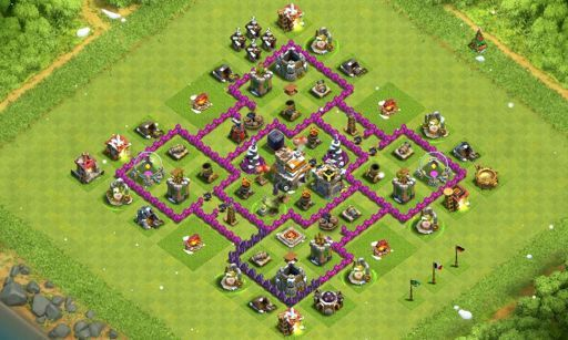 layouts para cv7 clash of clans pt br amino
