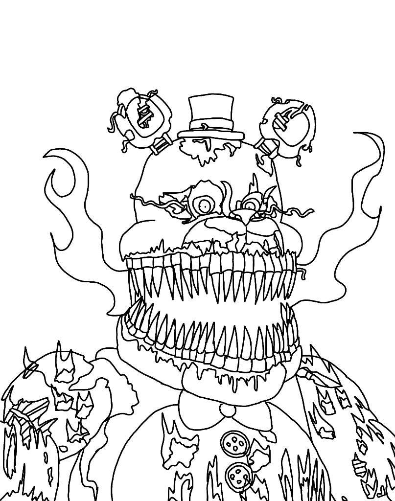 fnaf coloring pages nightmare fnaf challenges nightmare my entry elementchallenge