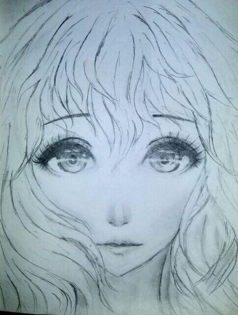 semi realistic anime drawing anime amino