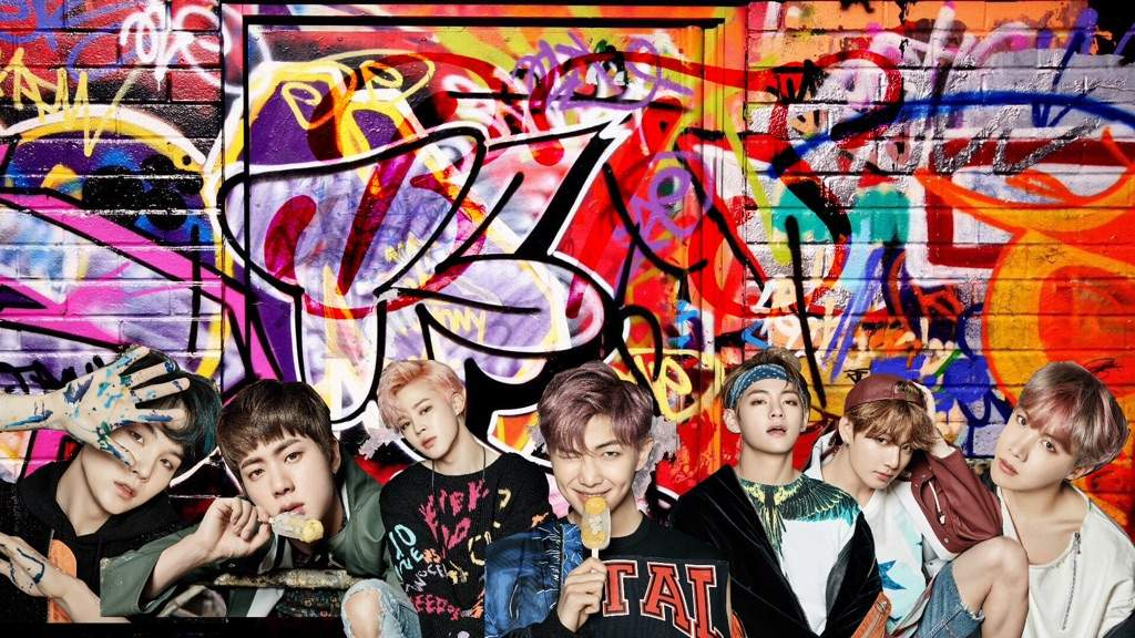 For The First Time I Make Pictures For Bts Graffiti Style
