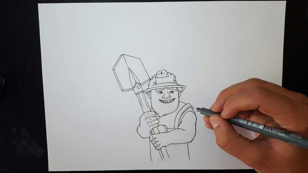 Dibujospara Colorear Clash Royale: Dibujo Del MINERO De Clash Royale