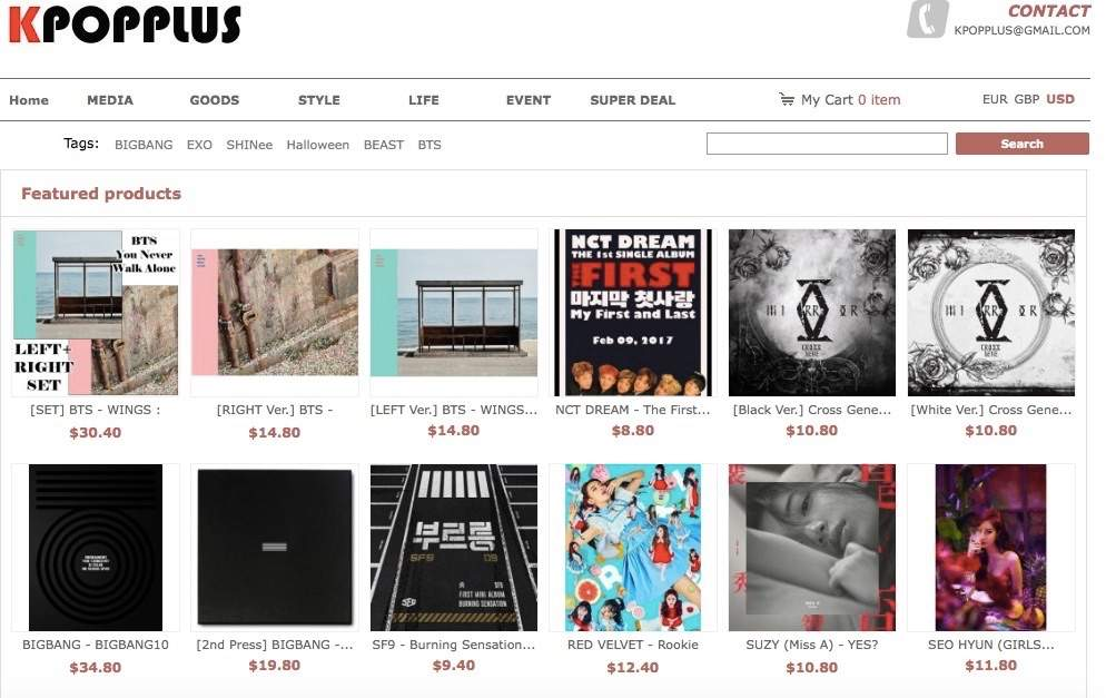 Kpop Mart Another well known site. Alongside kpoptown and kpopplus the  pricing is the same. Shipping is pricier(starts at $6) and an estimated 2  weeks-4 ...