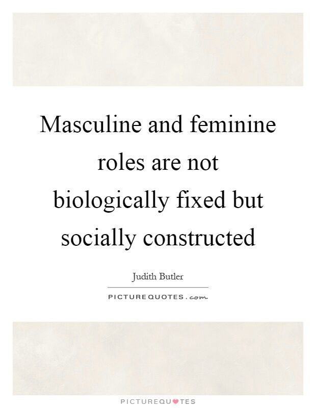 the perceptions of what constitutes masculinity Masculinity and femininity: do sex the current study combined the exploration of sex, race, and social class on perceptions of masculinity and femininity.