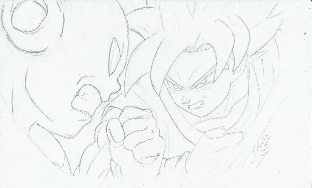 Dibujo dragon ball super opening 2- goku vs nuevo peleador ...
