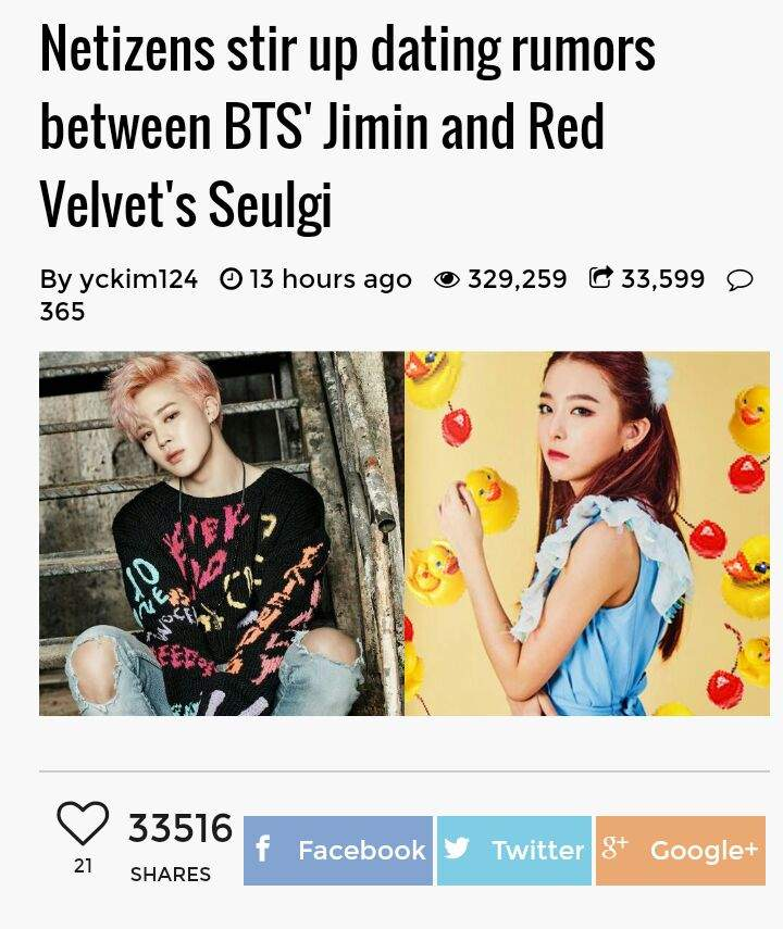Park jimin bts dating rumors