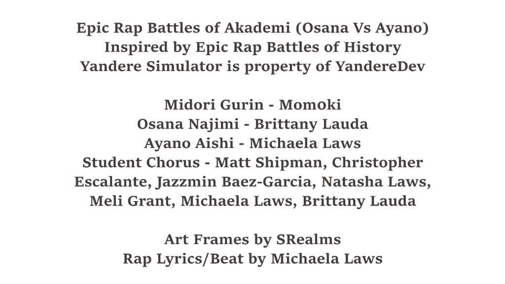 Lyric epic rap battles lyrics : 🏫Epic rap battles of Akademy 🏫 | Yandere Simulator 💌 Amino Amino