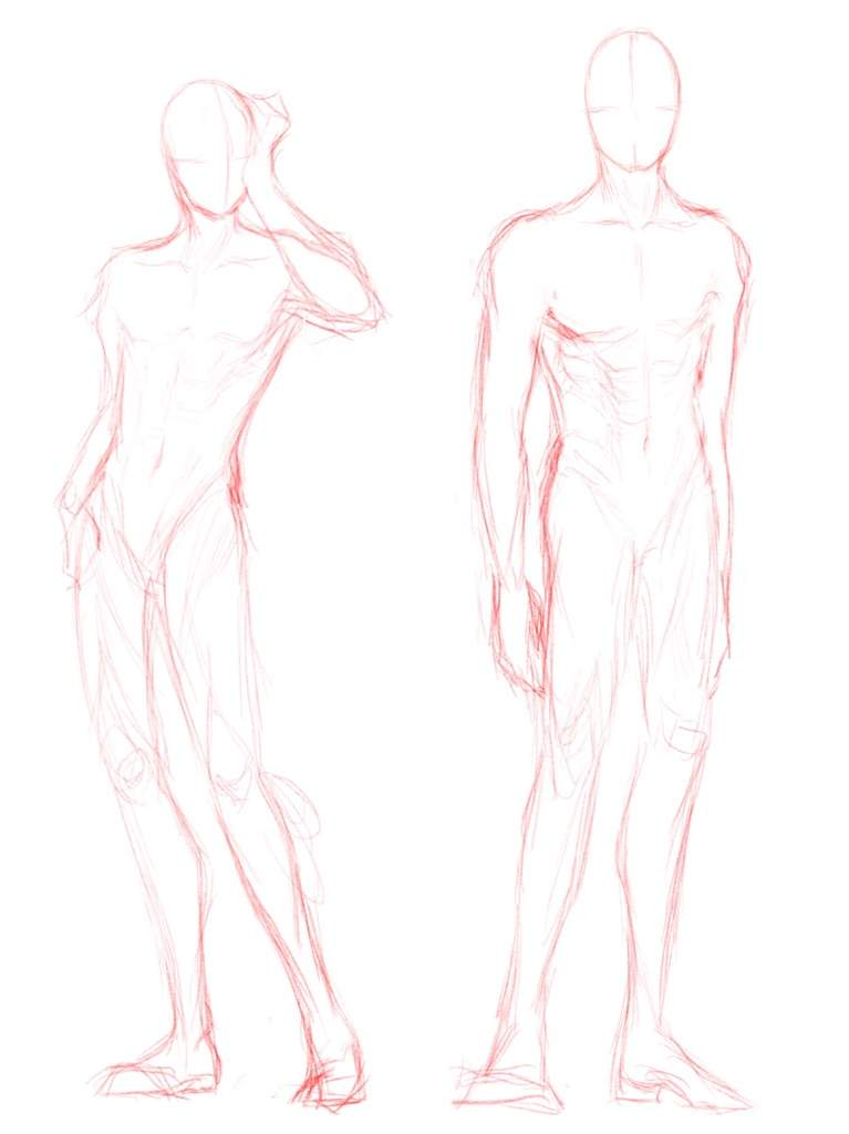 Male Anatomy Practice Dump | Anime Amino