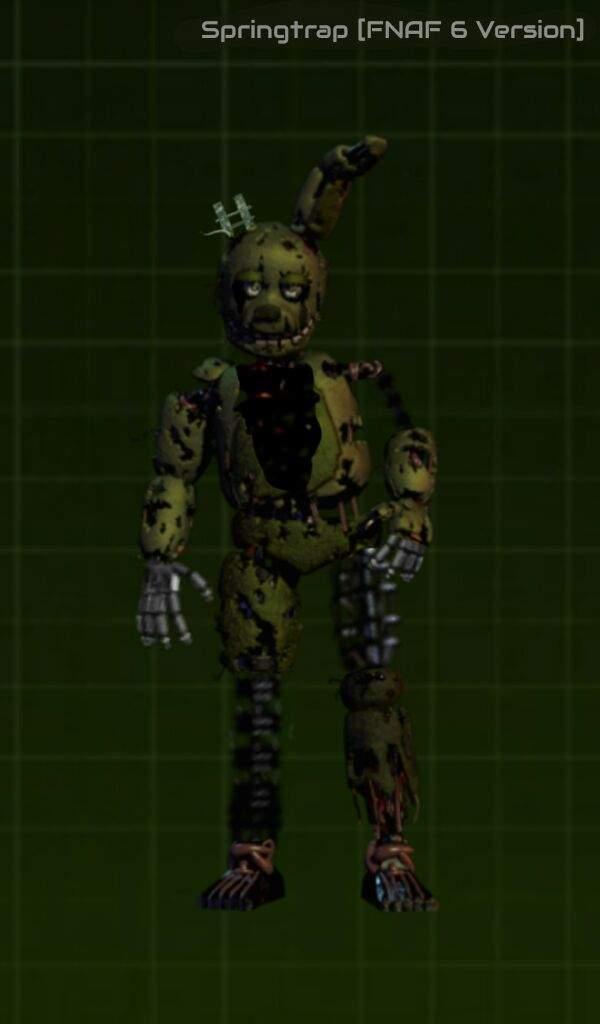 Springtrap [FNAF 6 Version] | Five Nights At Freddy's Amino
