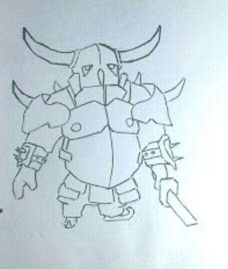 Galera Fiz Esse Desenho Da Pekka Clash Royale Amino