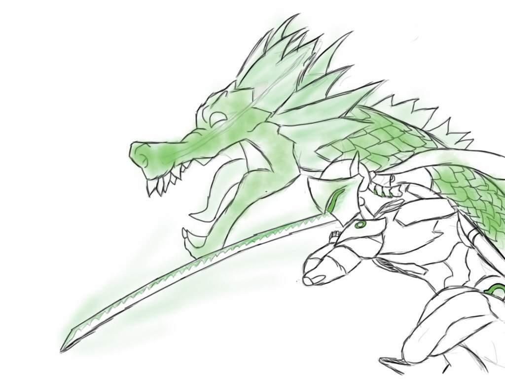 genji and dragon drawing overwatch amino