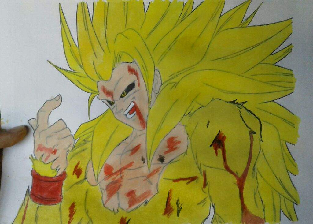 Dibujo De Goku De Dragon Ball Z Para Pintar Y Colorear