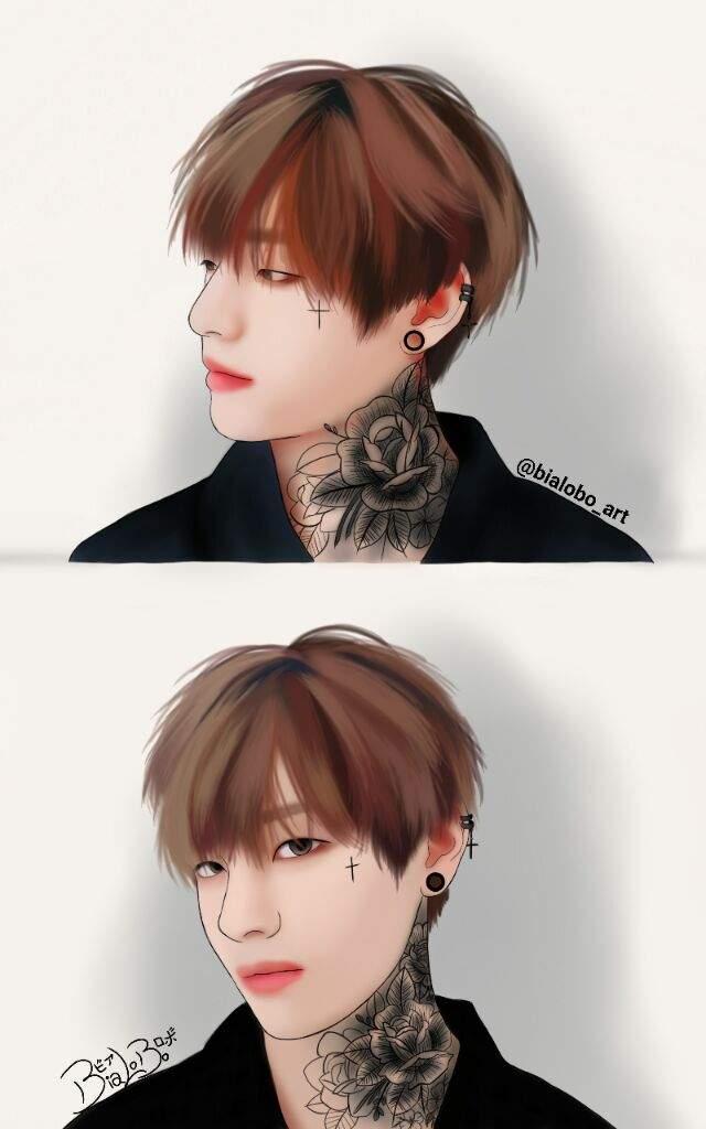 Tae And Jungkook Tattoo: BTS Fanarts Tattoo (Complete)🌹