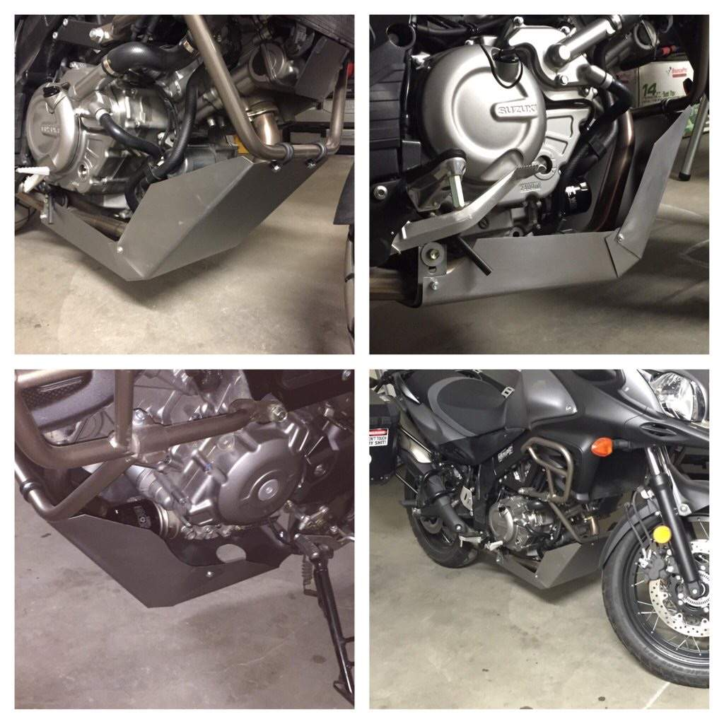 Diy Engine Guard Motorcycle Amino Or Bash Plate I Decided To Spend 15 On Some Stainless Steel And Rattle Can From The Local Hardware Store Make An Myself