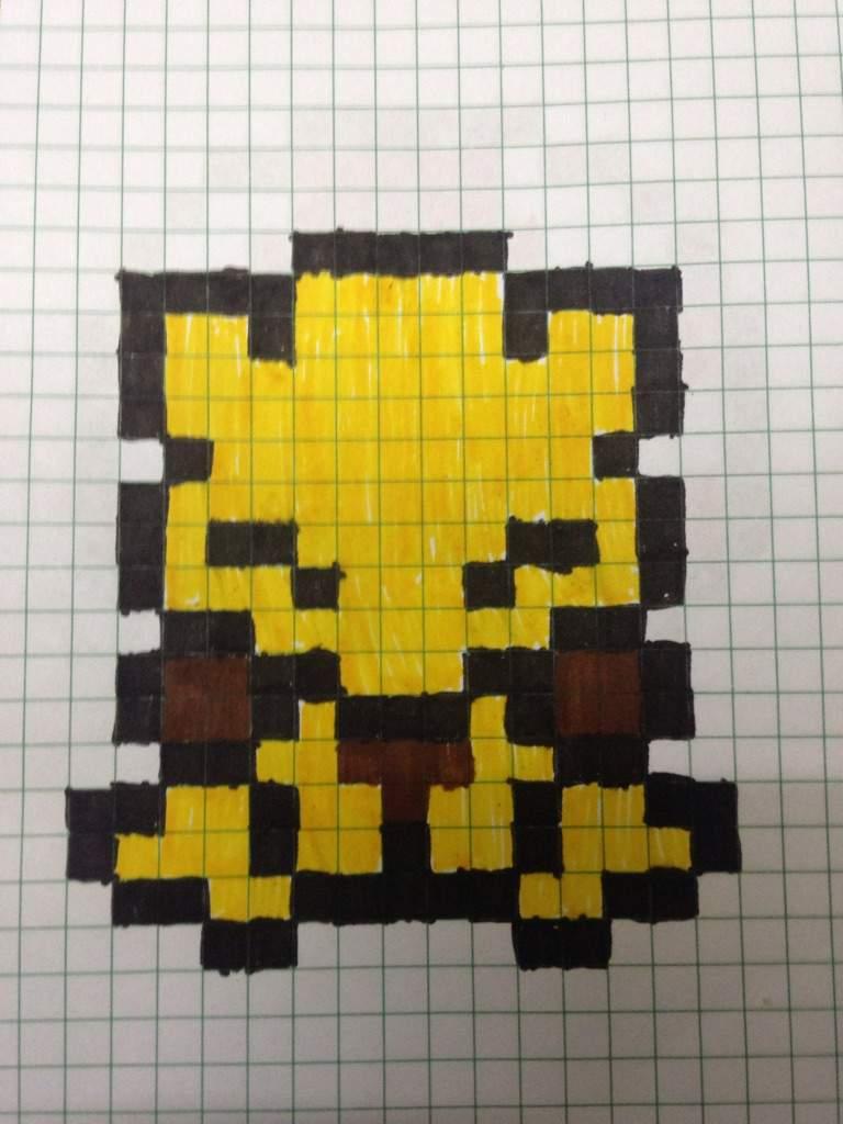 My Pixel Art Of Abra Pokémon Amino